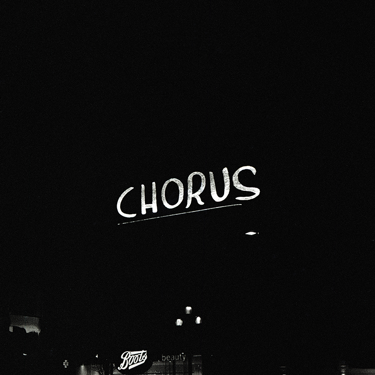'Chorus' plays on the Piccadilly Lights, March 2021. Photography by Kirsty Sim.